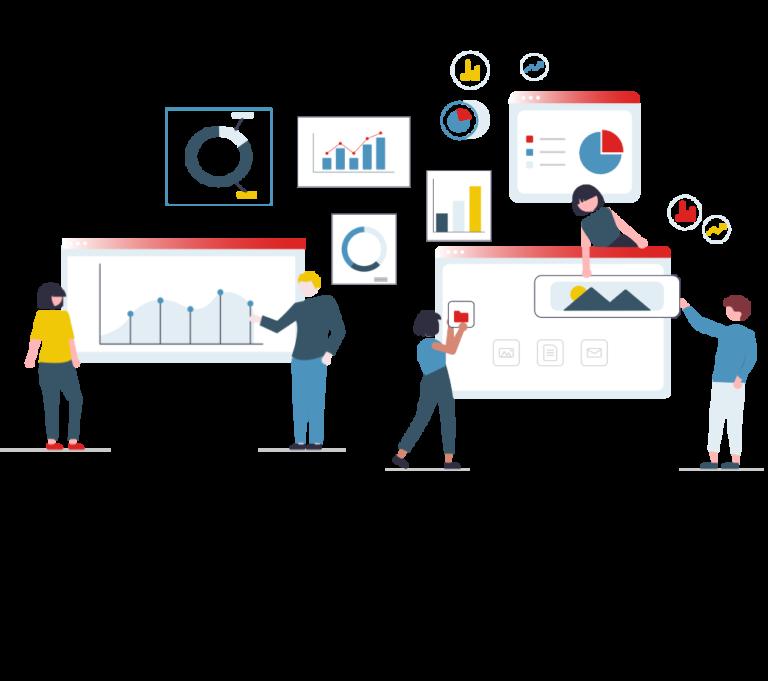 online marketing illustration