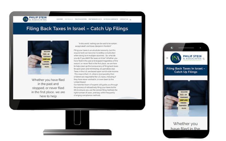 image of website build for pstein.com